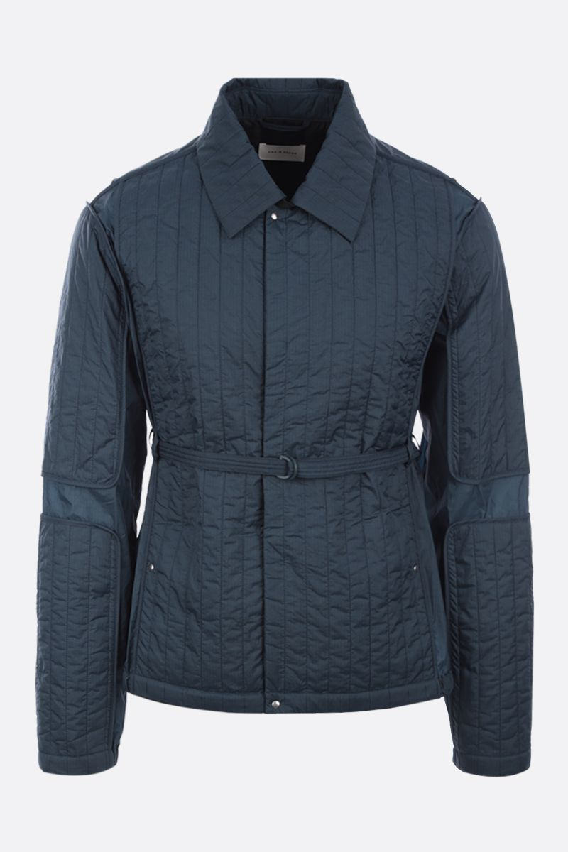 CRAIG GREEN: quilted nylon overshirt Color Blue_1