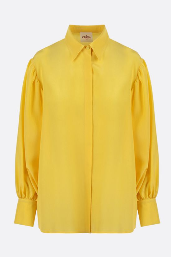 CRIDA: Bologna crepe de chine shirt Color Yellow_1