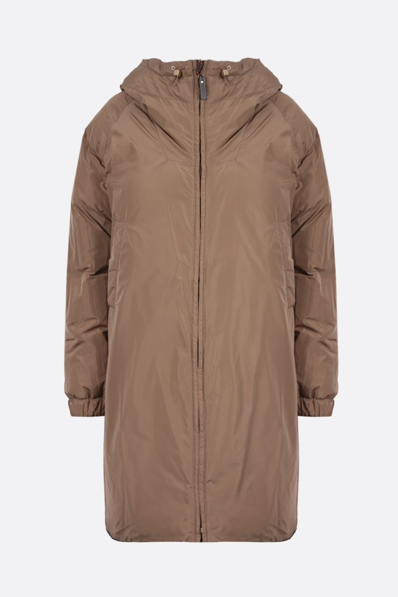 MAX MARA THE CUBE: Sportl technical taffetà reversible down jacket Color Brown_2