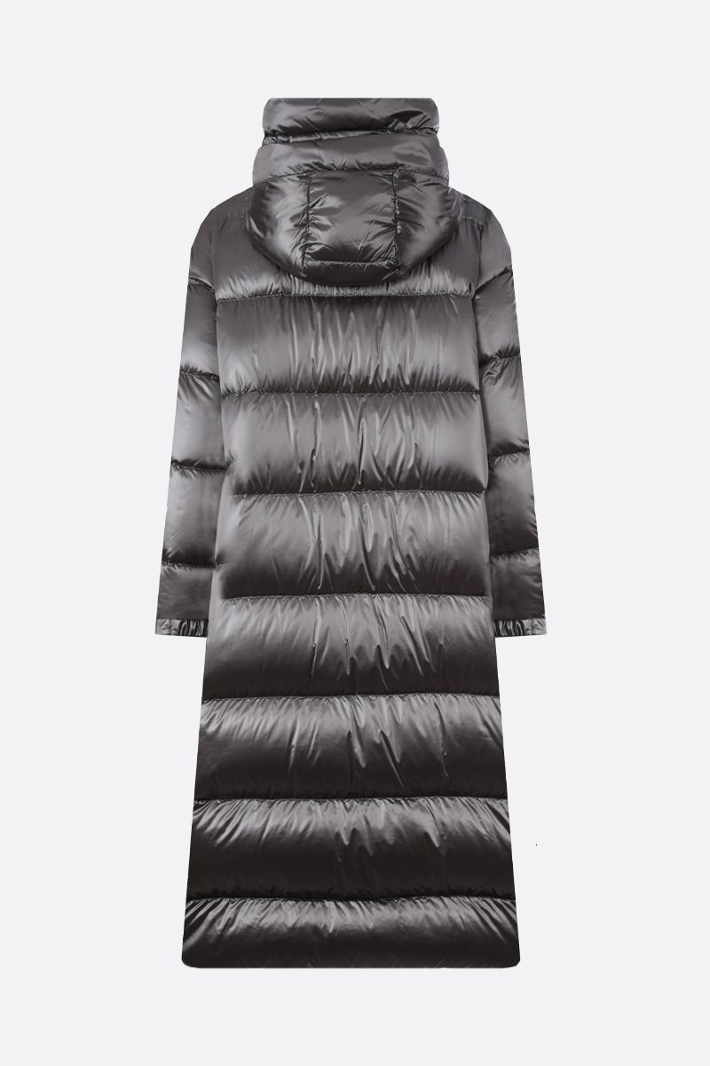 MAX MARA THE CUBE: Space shiny nylon down jacket Color Grey_2