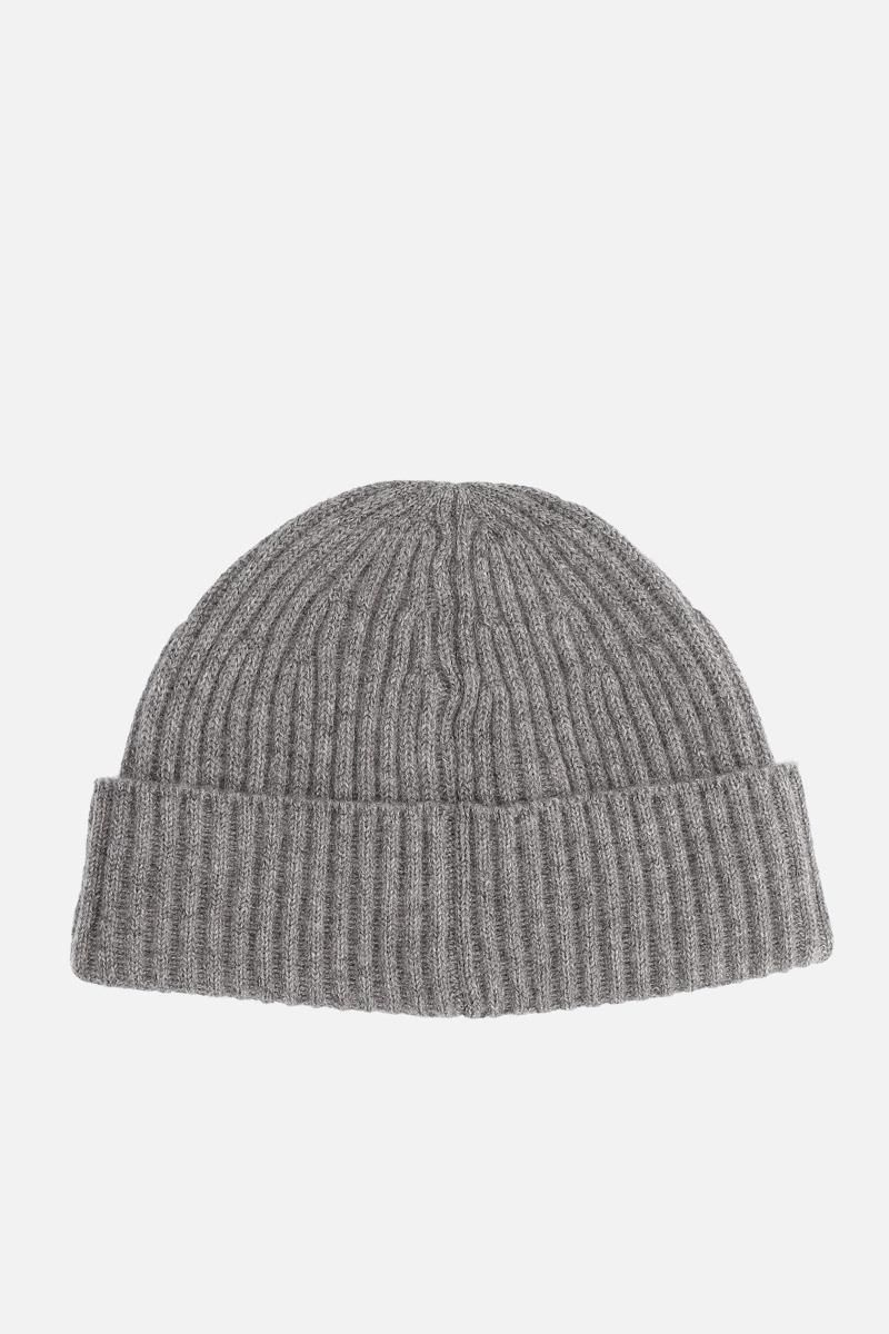 BRUNELLO CUCINELLI: cashmere knit beanie Color Grey_2