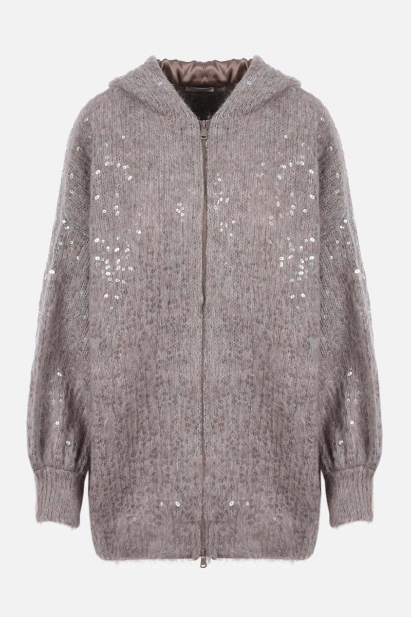 BRUNELLO CUCINELLI: cardigan full-zip in misto mohair e alpaca_1