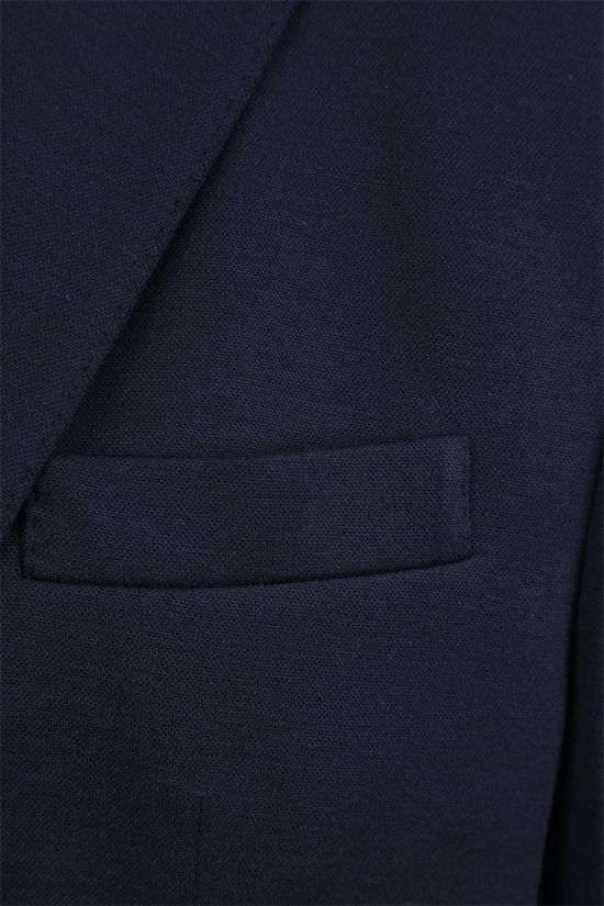 BRUNELLO CUCINELLI: single-breasted silk cotton blend jacket Color Blue_4