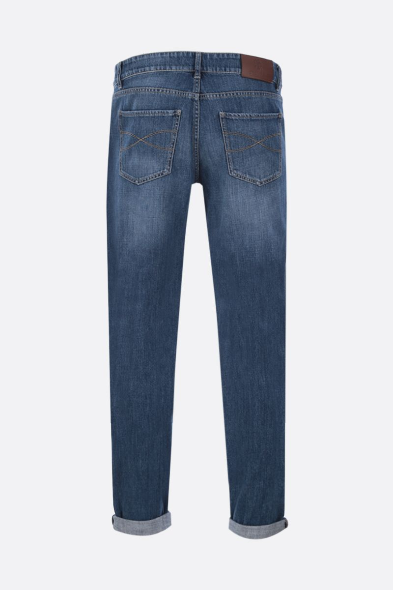 BRUNELLO CUCINELLI: lightweigth cotton traditional-fit jeans Color Blue_2
