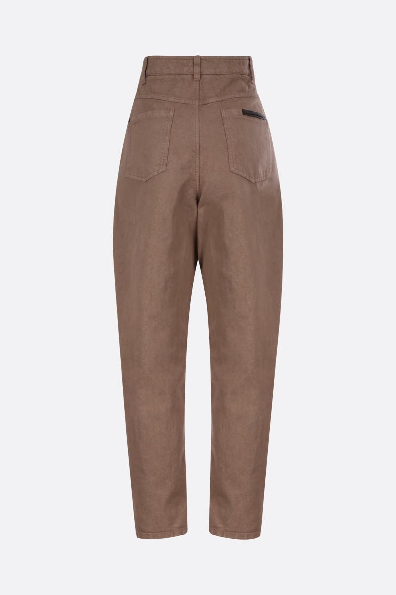 BRUNELLO CUCINELLI: monili-detailed baggy jeans Color Brown_2