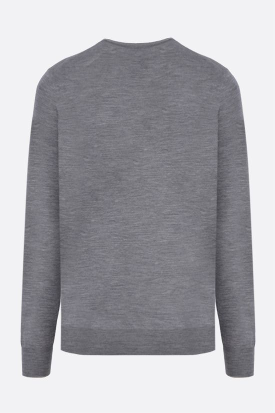 BRUNELLO CUCINELLI: wool cashmere blend pullover Color Grey_2