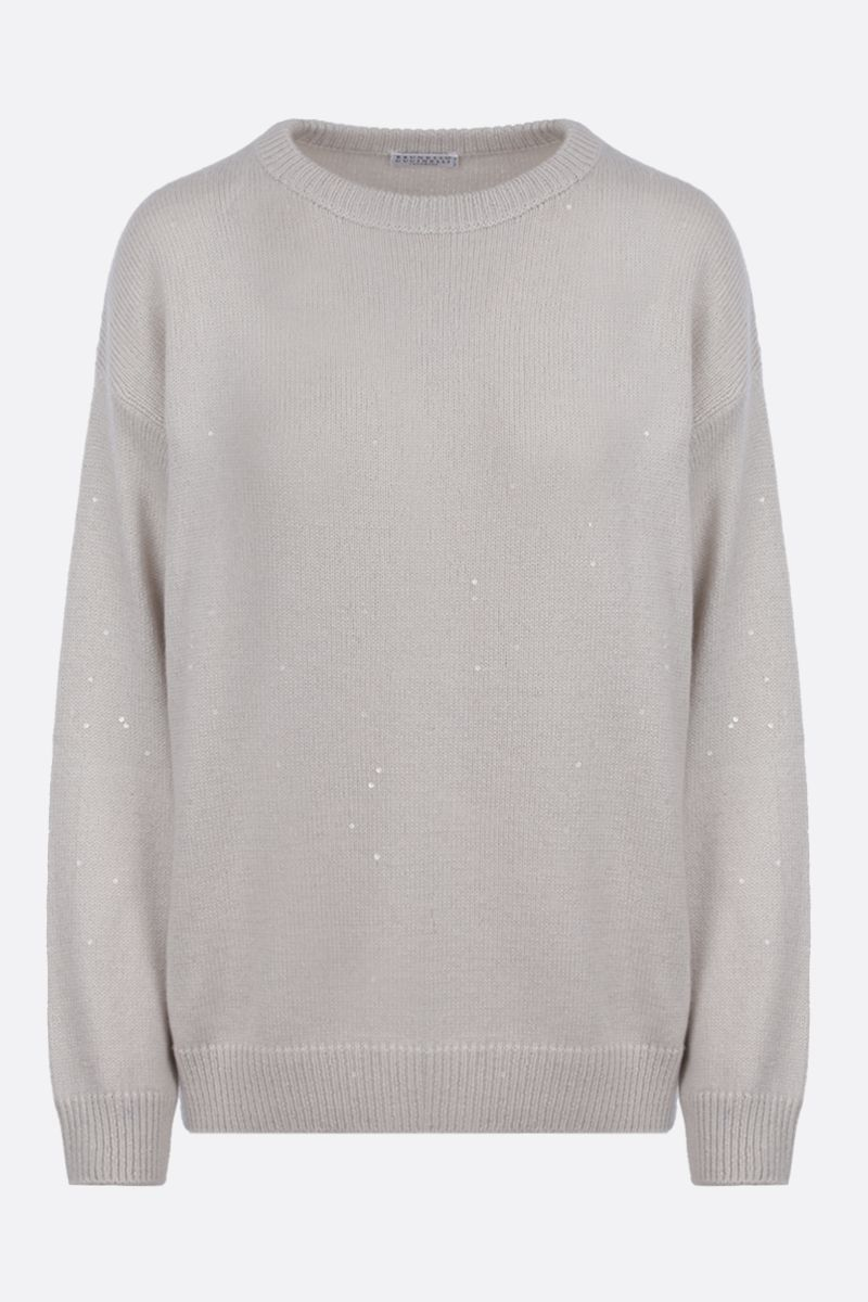 BRUNELLO CUCINELLI: sequinned cashmere silk blend pullover_1