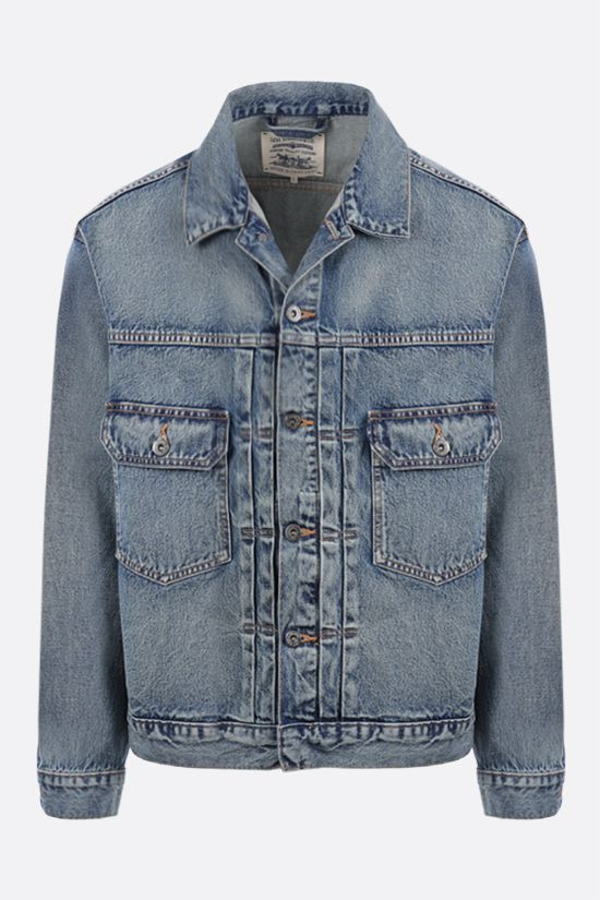 LEVI'S MADE & CRAFTED: giubbotto oversize in denim Colore Multicolore_1