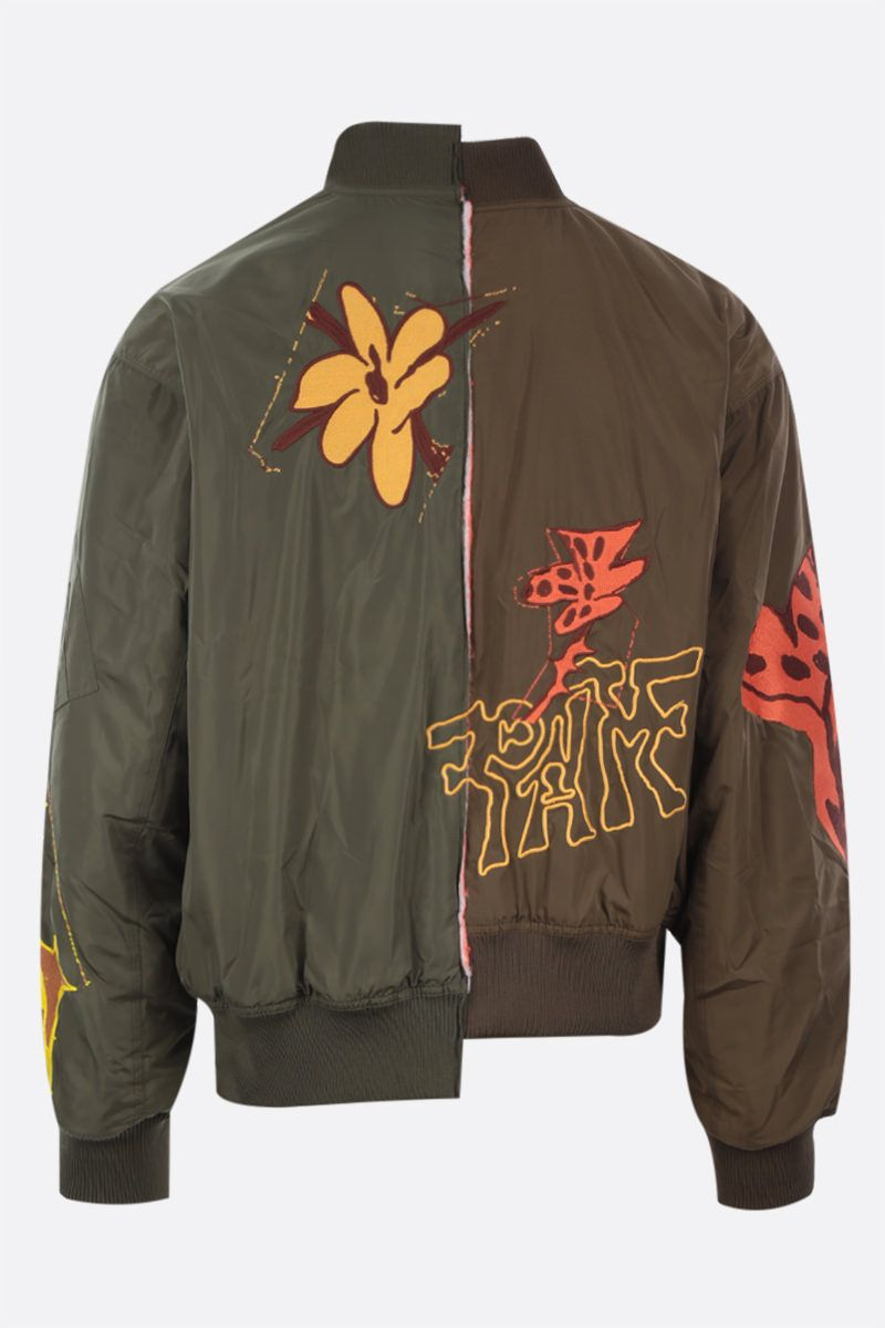 PERKS AND MINI: bomber Space Blossoms in nylon Colore Green_2