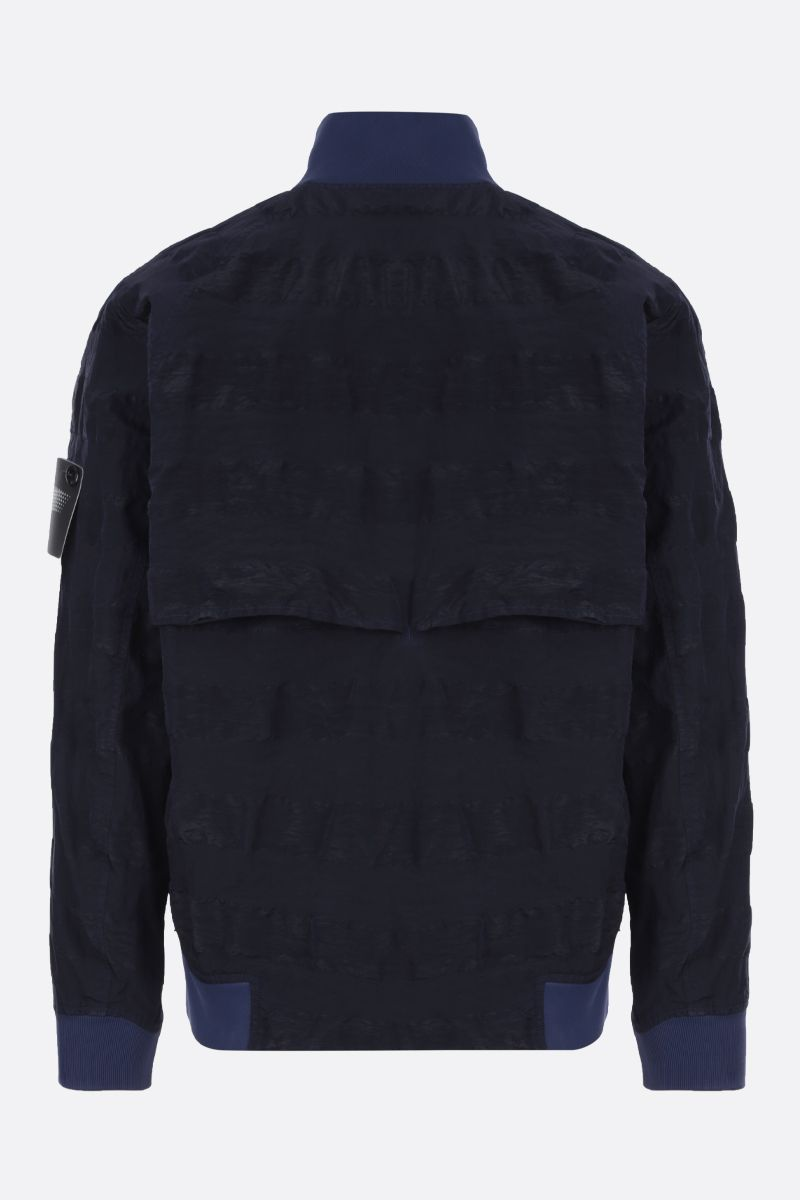 STONE ISLAND SHADOW PROJECT: Striped Nylon Metal fabric jacket Color Blue_2
