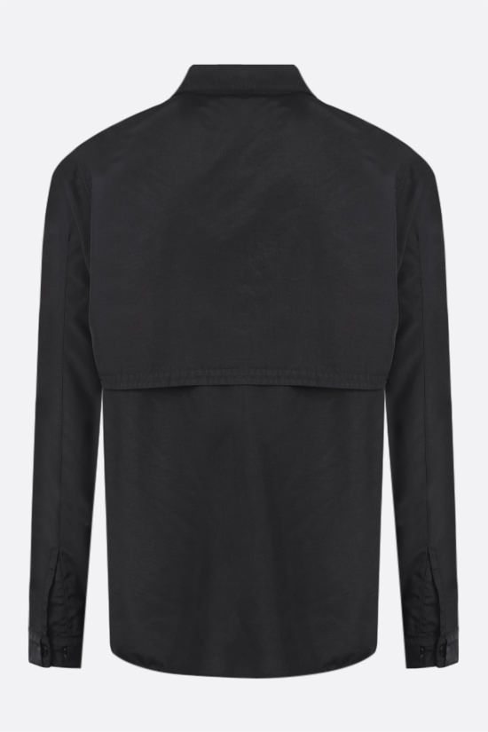 STONE ISLAND SHADOW PROJECT: logo badge-detailed nylon overshirt Color Black_2