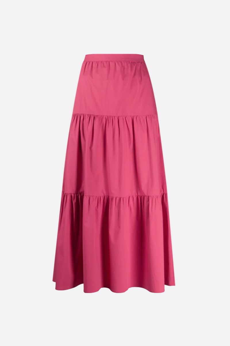 RED VALENTINO: cotton flounced skirt Color Red_1