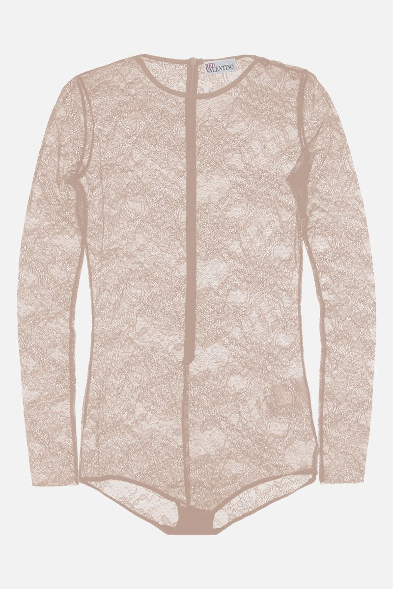 RED VALENTINO: jersey lace bodysuit Color Neutral_1