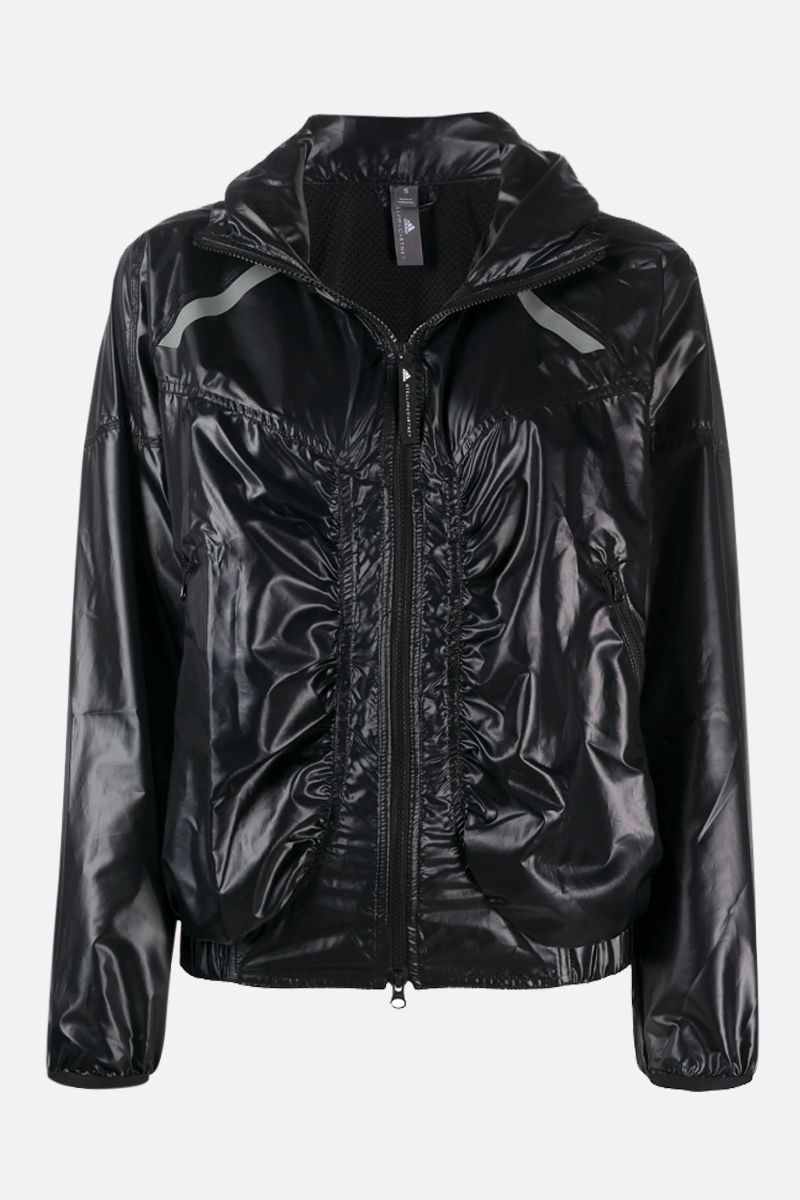 ADIDAS BY STELLA McCARTNEY: Light shiny nylon windbreaker Color Black_1