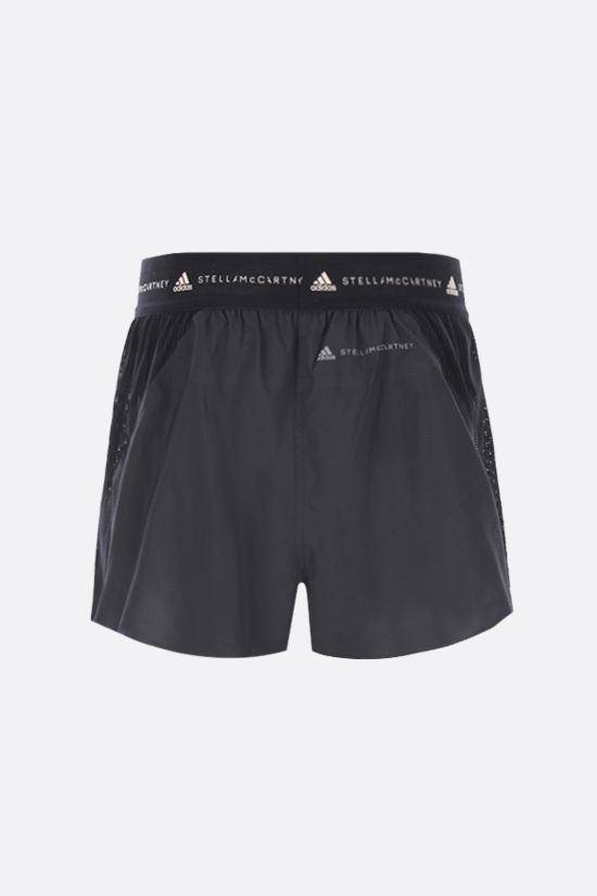 ADIDAS BY STELLA McCARTNEY: TruePace technical fabric and mesh shorts Color Black_2