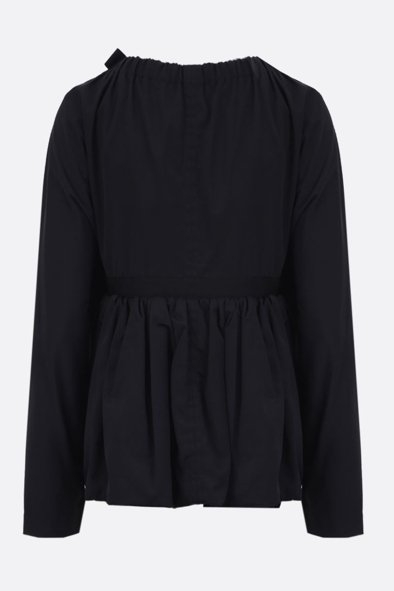 MOLLY GODDARD: Ralph technical cotton overcoat Color Black_2