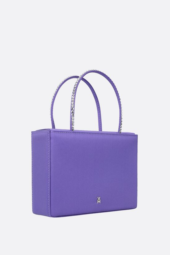AMINA MUADDI: Amini Gilda Crystal shiny satin handbag Color Purple_2