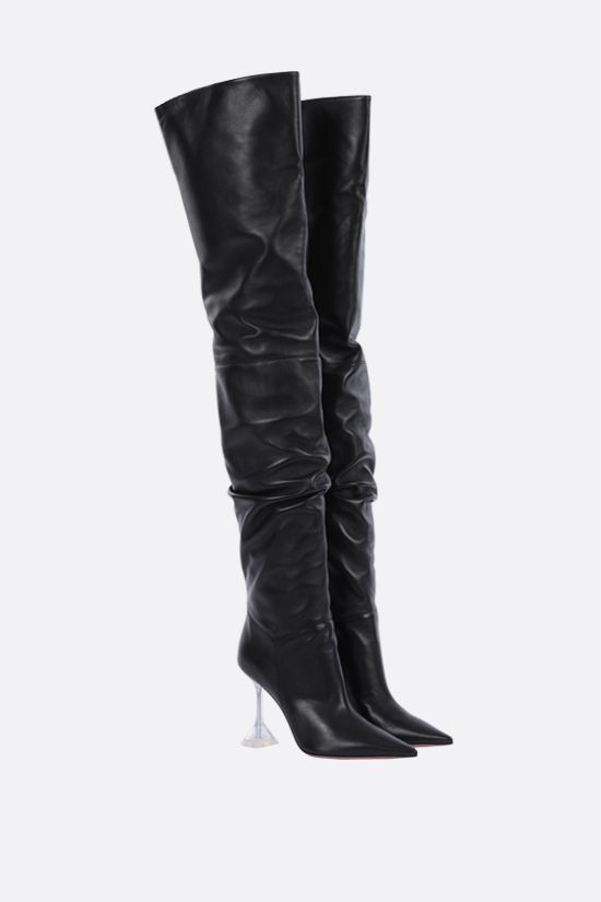 AMINA MUADDI: Olivia soft nappa over-the-knee boots Color Black_2