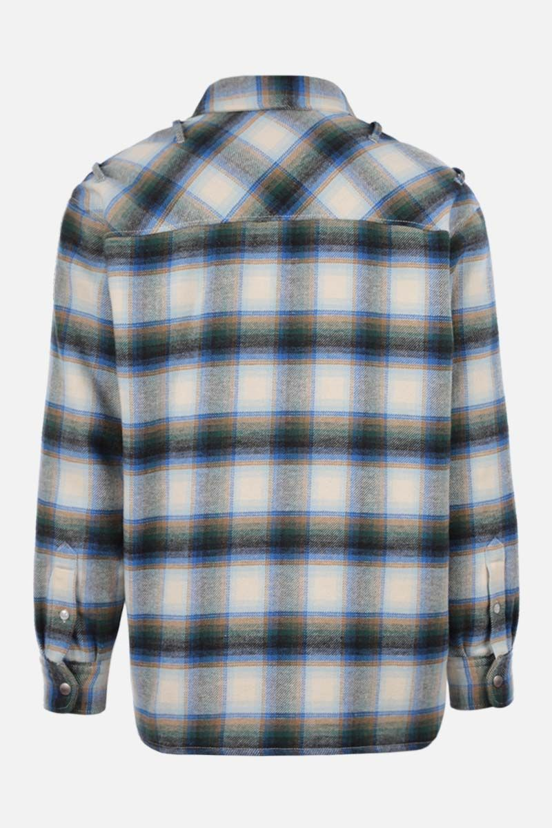 GOLDEN GOOSE DELUXE BRAND: Allen flannel padded overshirt Color Blue_2