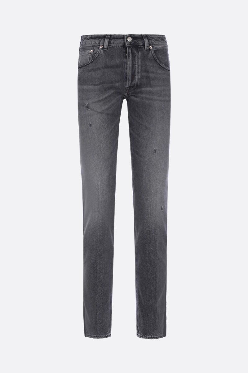 GOLDEN GOOSE DELUXE BRAND: Jolly slim-fit jeans with contrasting bands Color Black_1