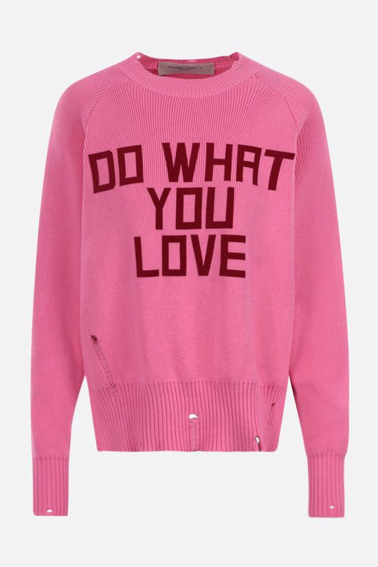 GOLDEN GOOSE DELUXE BRAND: Delilah cotton pullover Color Pink_1