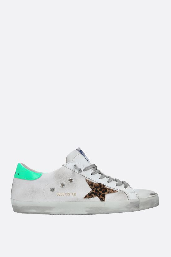 GOLDEN GOOSE DELUXE BRAND: Superstar smooth leather and canvas sneakers Color Multicolor_1