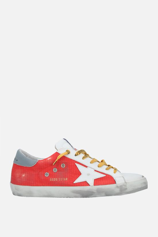 GOLDEN GOOSE DELUXE BRAND: Superstar smooth leather and nylon sneakers Color Multicolor_1