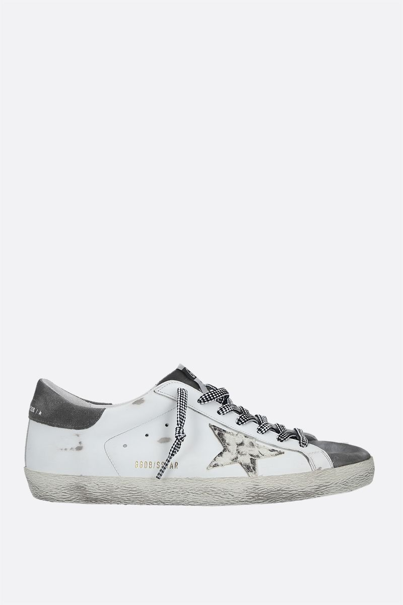 GOLDEN GOOSE DELUXE BRAND: Superstar smooth leather and suede sneakers Color White_1