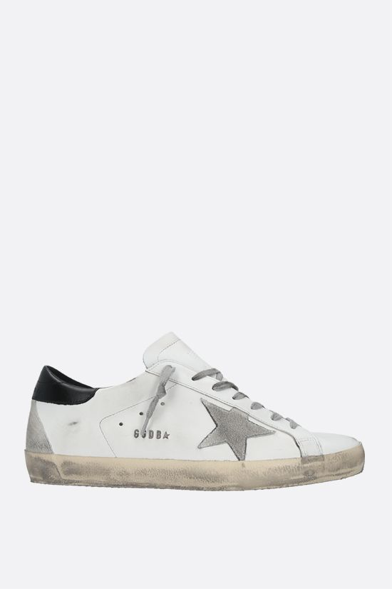 GOLDEN GOOSE DELUXE BRAND: Superstar smooth leather sneakers Color White_1