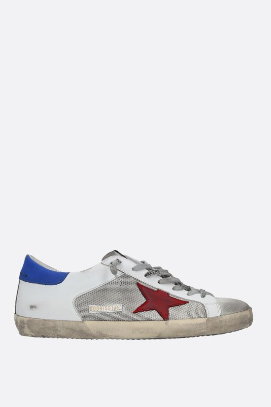 GOLDEN GOOSE DELUXE BRAND: Superstar sneakers in smooth leather, fabric and suede Color Multicolor_1