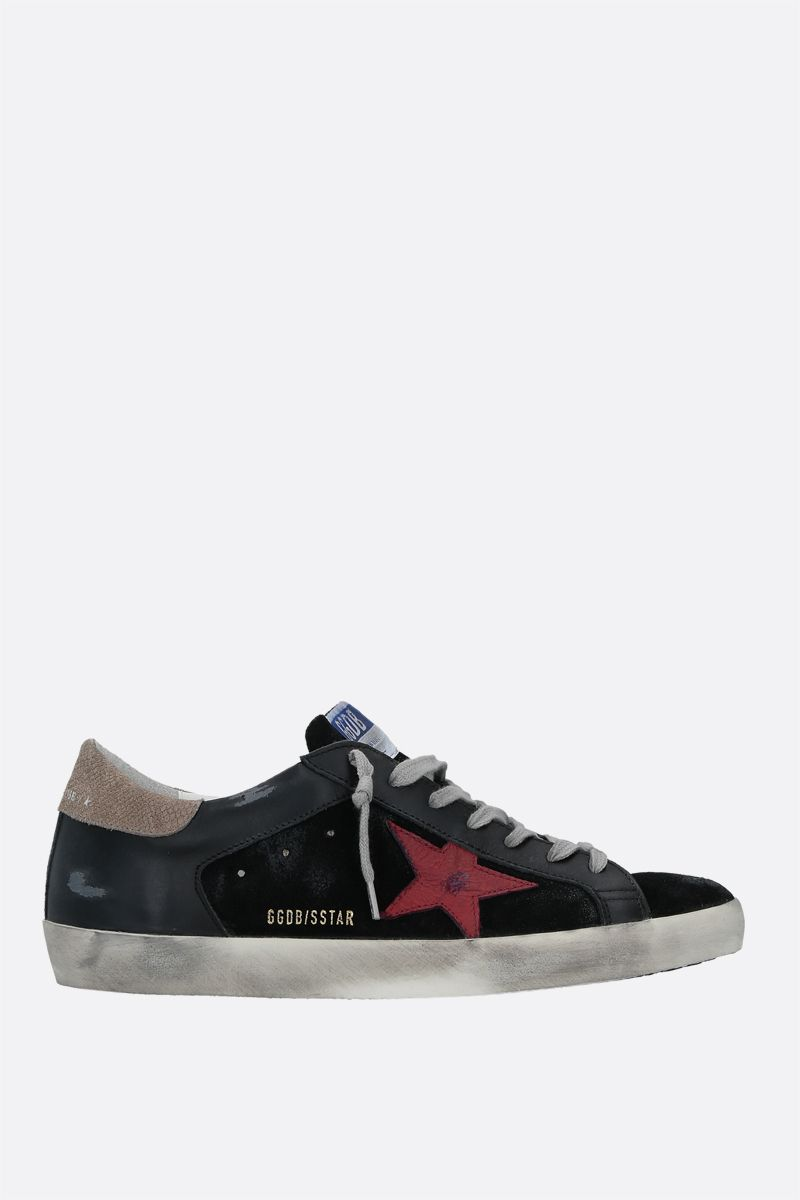 GOLDEN GOOSE DELUXE BRAND: Superstar smooth leather and suede sneakers Color Multicolor_1