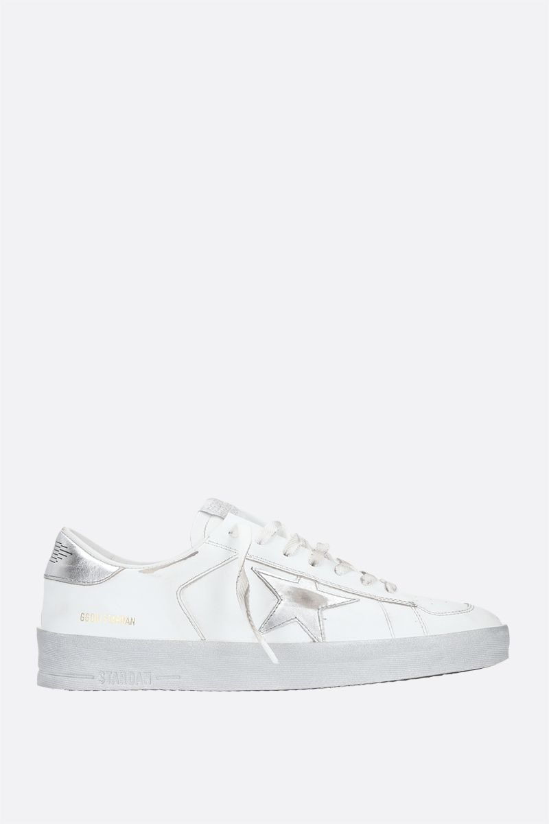 GOLDEN GOOSE DELUXE BRAND: Stardan smooth leather sneakers Color White_1