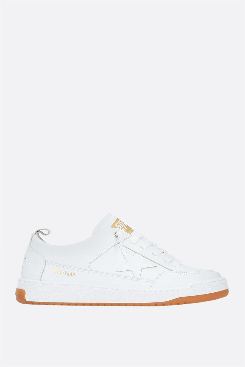 GOLDEN GOOSE DELUXE BRAND: Yeah smooth leather sneakers Color White_1