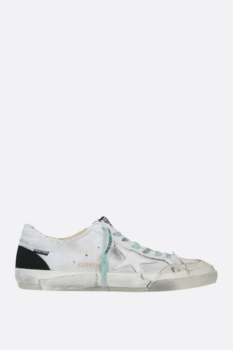 GOLDEN GOOSE DELUXE BRAND: Superstar canvas sneakers Color White_1