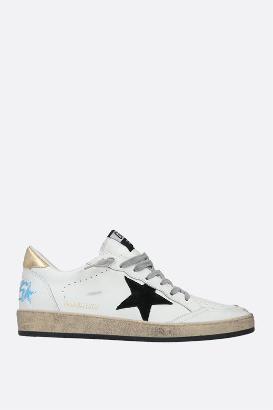 GOLDEN GOOSE DELUXE BRAND: Ball Star smooth leather sneakers Color White_1