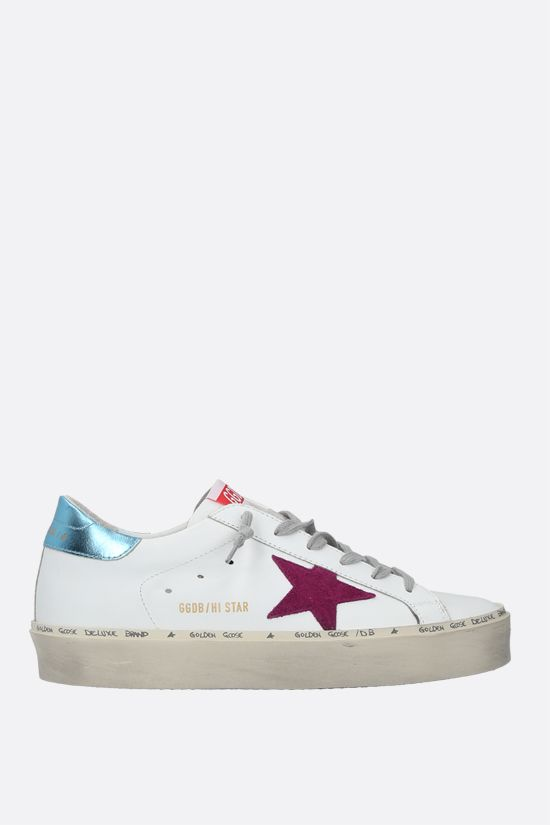 GOLDEN GOOSE DELUXE BRAND: Hi Star smooth leather flatform sneakers Color Multicolor_1