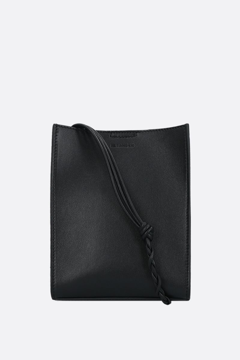 JIL SANDER: Tangle small smooth leather crossbody bag Color Black_1