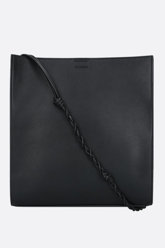 JIL SANDER: Tangle medium smooth leather shoulder bag Color Black_1