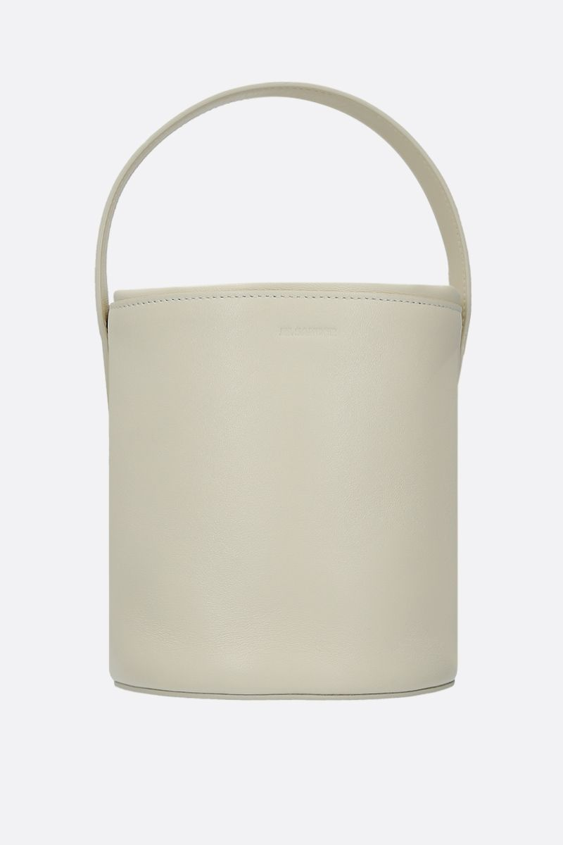 JIL SANDER: small bucket bag in nappa leather Color Neutral_1