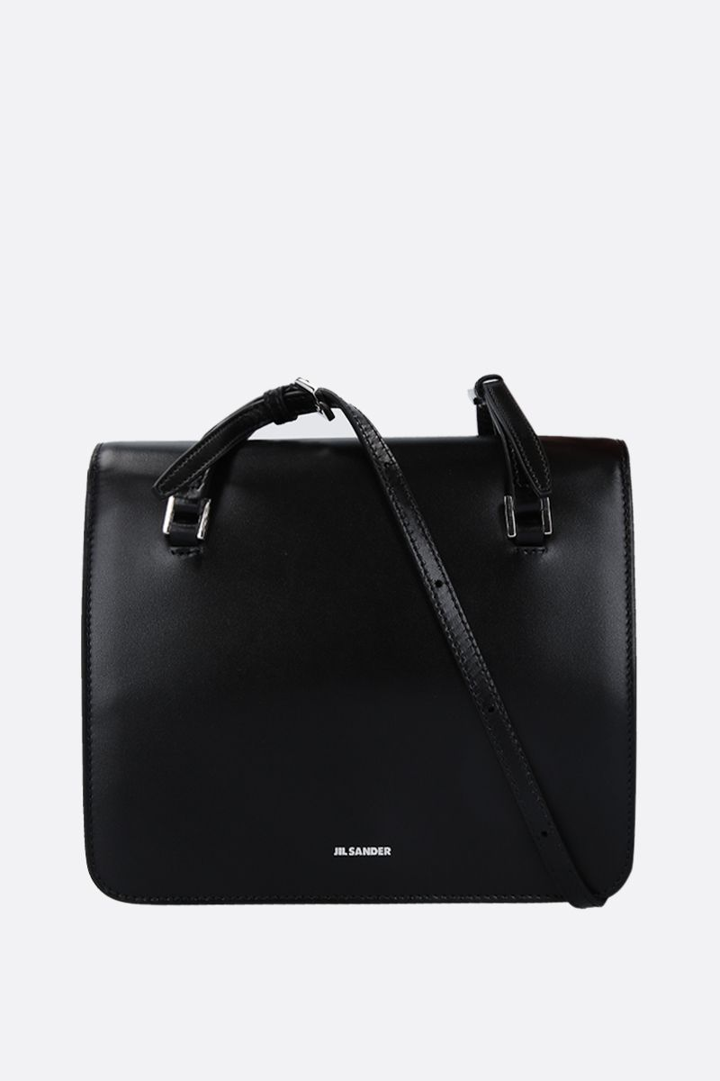 JIL SANDER: Holster small crossbody bag in smooth leather Color Black_1