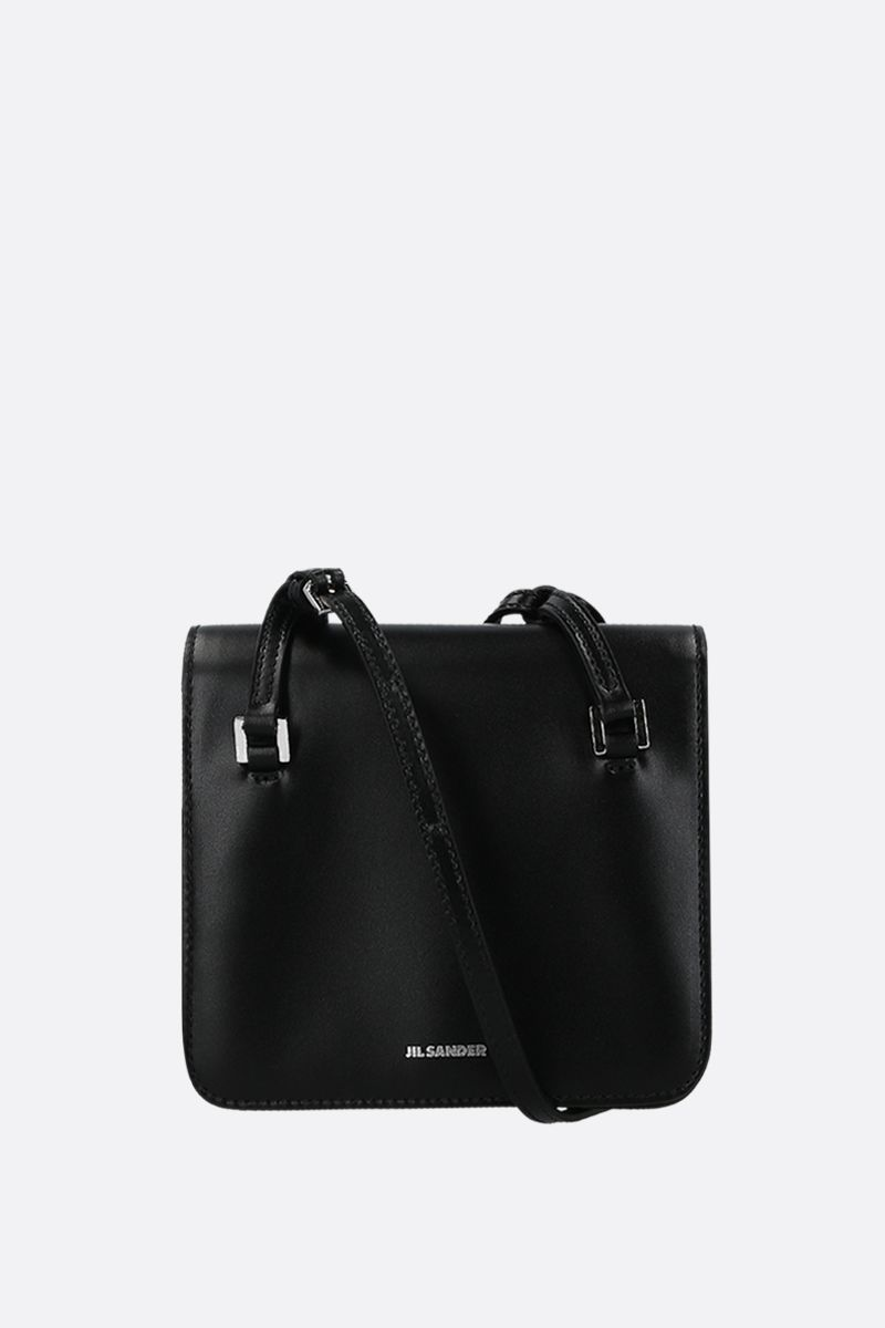JIL SANDER: Holster extra small crossbody bag in smooth leather Color Black_1
