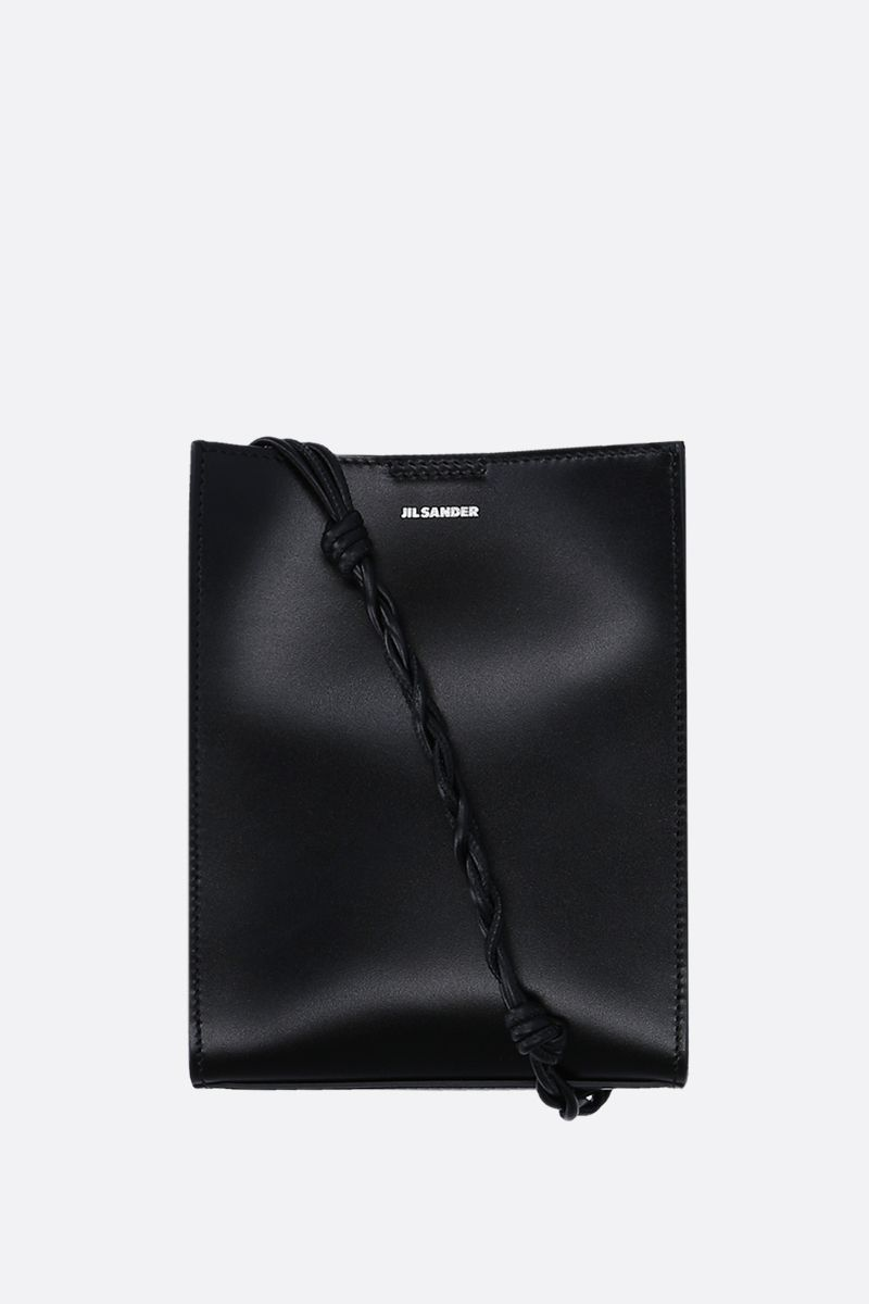 JIL SANDER: Tangle small smooth leather shoulder bag Color Black_1