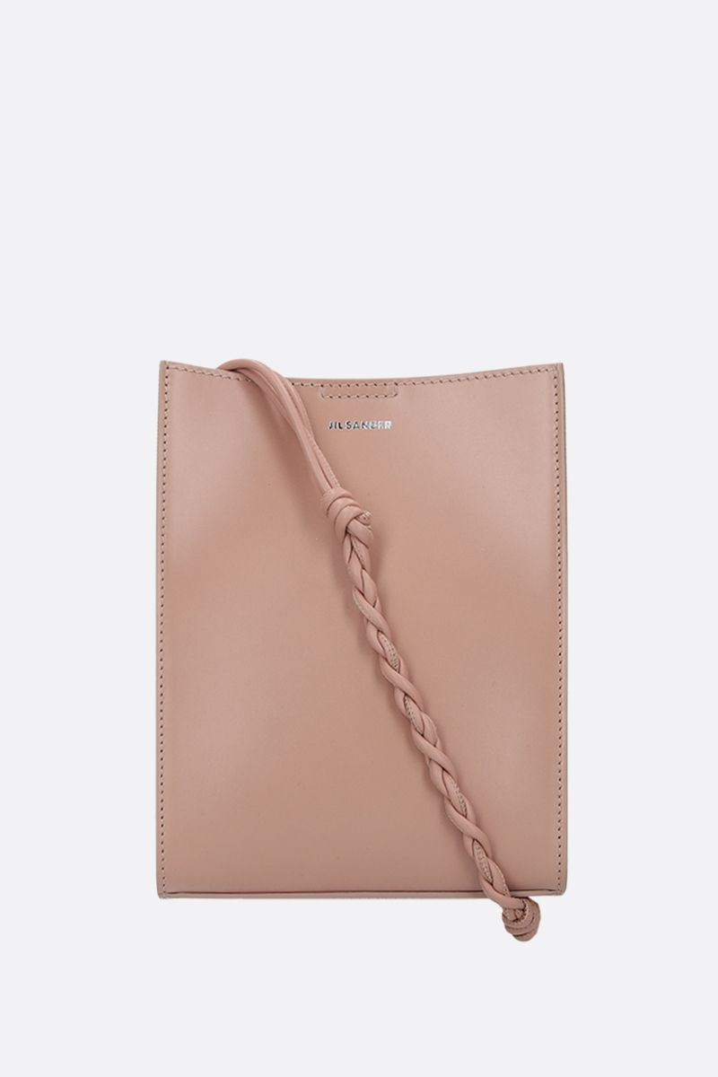 JIL SANDER: Tangle small smooth leather shoulder bag Color Pink_1