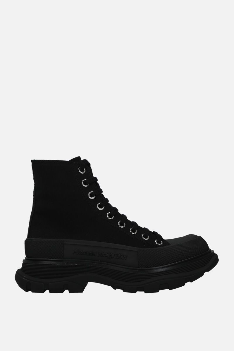 ALEXANDER McQUEEN: anfibio Tread in canvas Colore Nero_1