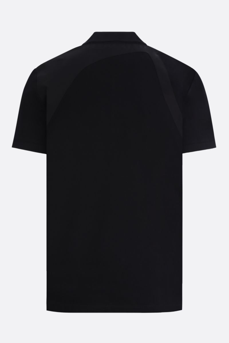 ALEXANDER McQUEEN: harness-detailed cotton polo shirt Color Black_2