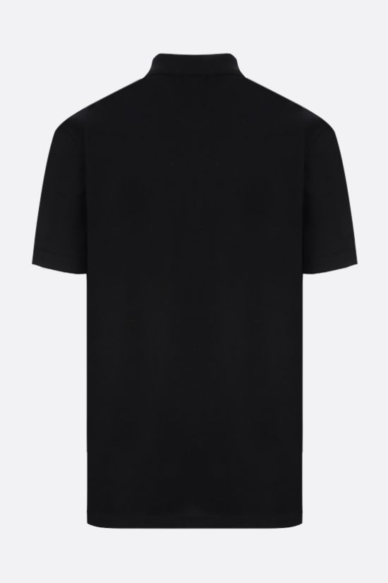 ALEXANDER McQUEEN: logo-detailed cotton polo shirt Color Black_2