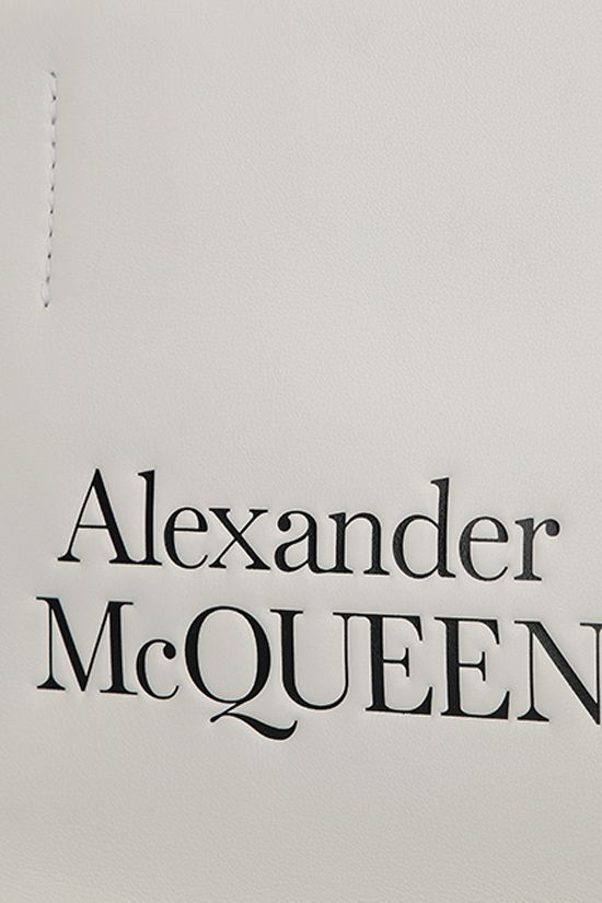 ALEXANDER McQUEEN: Sign small smooth leather tote bag Color Neutral_4