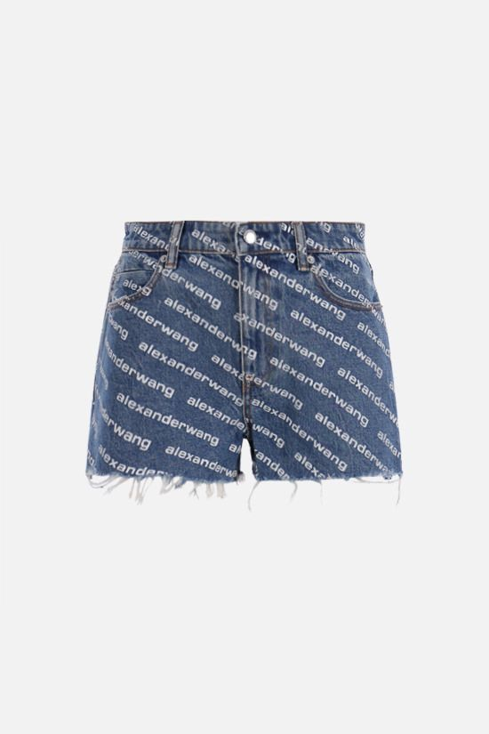 ALEXANDER WANG: Bite denim shorts Color Blue_1