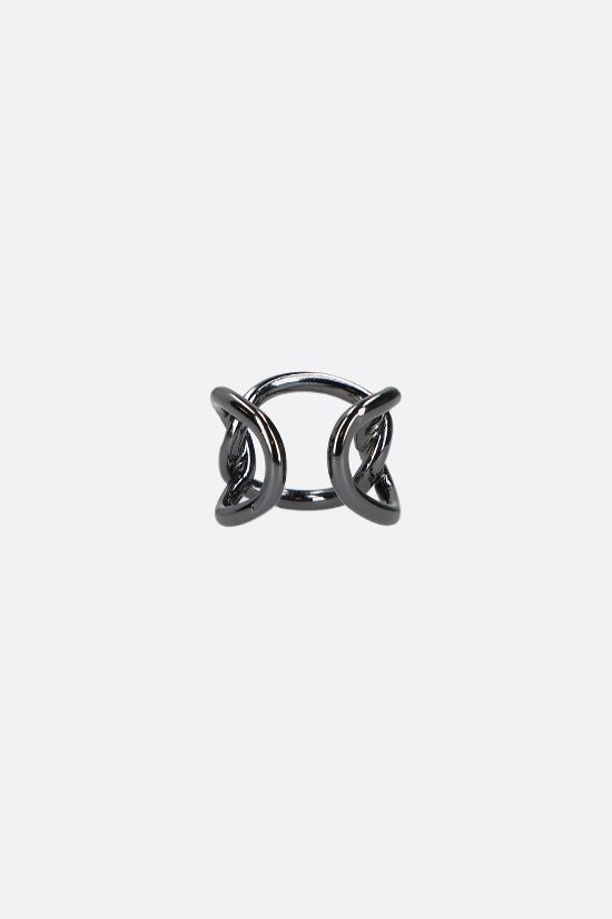 FEDERICA TOSI: Bolt brass ring Color Black_2