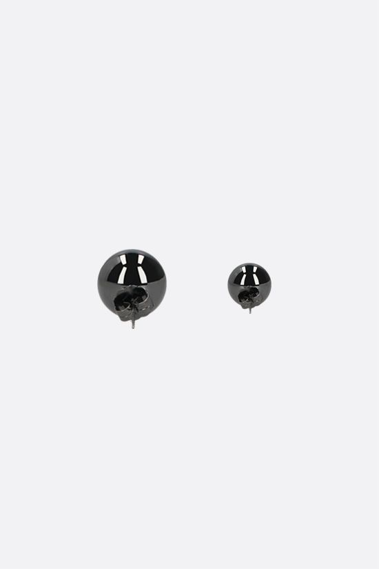 FEDERICA TOSI: Lobo Amber brass earrings Color Grey_2